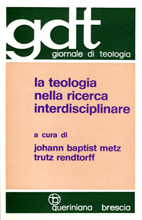 La teologia nella ricerca interdisciplinare