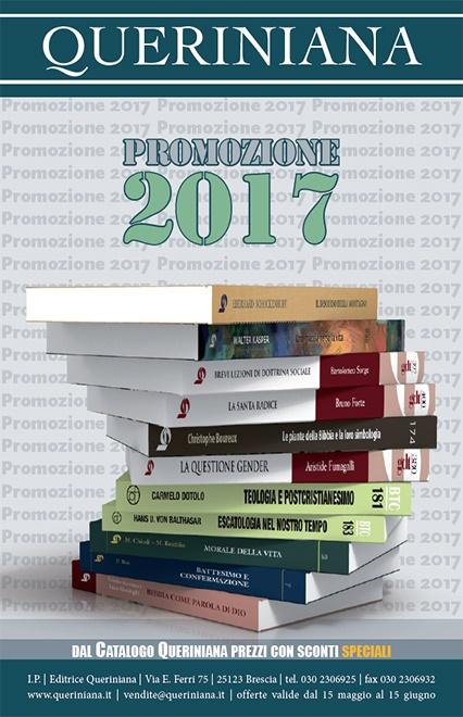 Promozione 2016. <br>Dal Catalogo Queriniana <br> prezzi scontati <br> dal 15% al 40%
