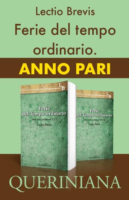 Ferie del Tempo Ordinario. Anno pari (2 volumi)