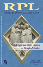Rivista di Pastorale Liturgica 5/2014