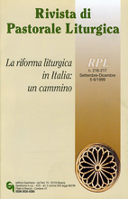 Rivista di Pastorale Liturgica 5-6/1999